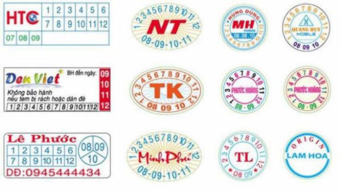 Mẫu tem in bảo hành